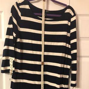 Lauren Jeans Ralph Lauren XL Navy and Cream Dress